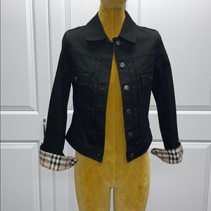 Vintage Burberry women's denim jacket